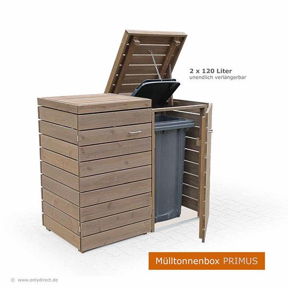 Moderne Mulltonnenbox Primus Asiatische Zeder Fsc Zubehor Aus